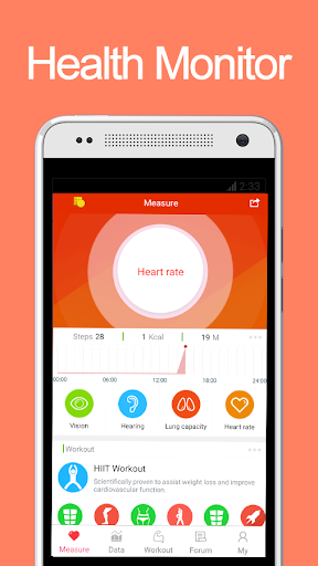 iCare Health Monitor Fitness app screenshot for Android