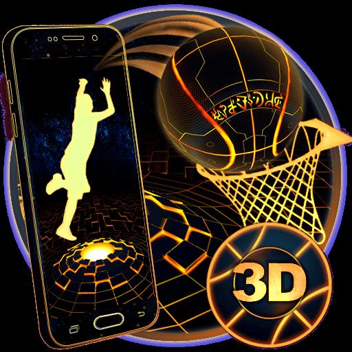 Neon Tech Basketball 3D Theme