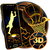 Neon Tech Basketball 3D Theme