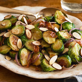 Cider-Glazed Brussels Sprouts with Bacon & Almonds