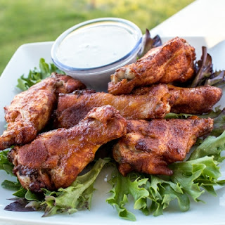 Chipotle Dry Rub Smoked Chicken Wings.