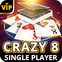 Crazy 8 Offline - Single Player Card Game icon
