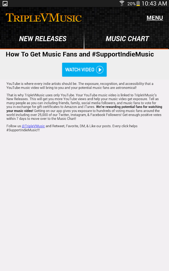TripleVMusic - FREE Gift Cards- screenshot