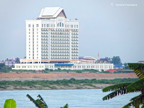 Photo: Hotel in Vientiane near the Mekong River with good views of the Mekong River.http://www.accommodationnear.net/Laos/Vientiane/Don_Chan_Palace_Vientiane