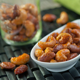 Sriracha Honey Glazed Nuts.