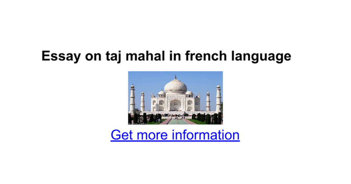 essay on taj mahal in sanskrit Taj mahal essay - top affordable and professional academic writing service essay on taj mahal in sanskrit language order essay writing services provided by.