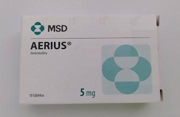 Aerius 5Mg Tabletas Caja   x10Tab. MSD Desloratadina