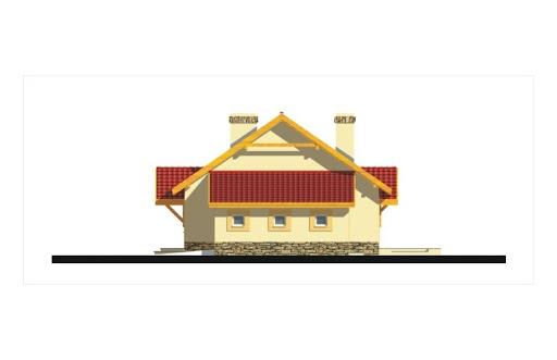Gienia energo+ wersja C bez garażu strop Teriva - Elewacja prawa
