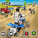 Dirt Track Racing ATV Quad Bike Racer Champion 3D icon