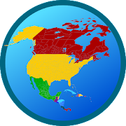 Map of North America Free
