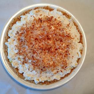 Tropical Coconut Cream Pie in Coconut Cookie Crust.
