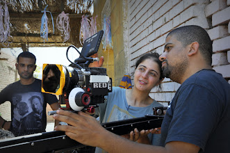 Photo: Ahmad Abdalla and Camera Assistant Noha El Ostaz in the set of Rags & Tatters - Cairo 2013 in the City of Dead.