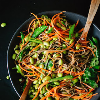 Sugar Snap Pea and Carrot Soba Noodles.