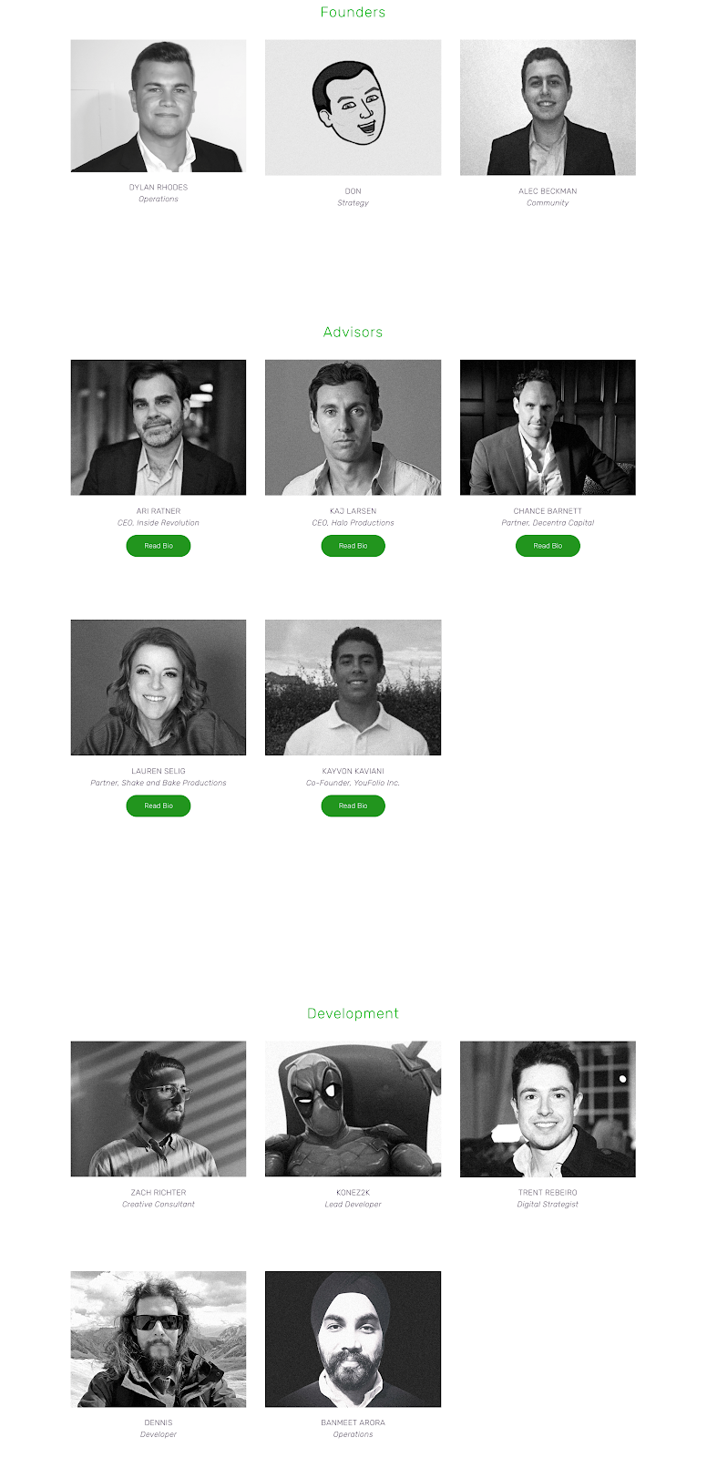 Team member Bitcoin Green