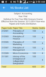 National University Books List 4