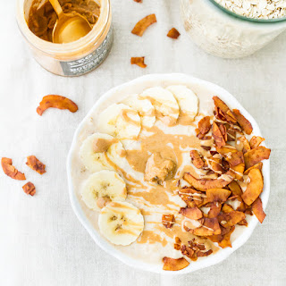 Elvis Overnight Oats with Peanut Butter, Banana and Bacon.