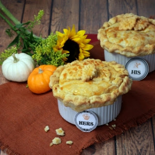 His and Hers Chicken Pot Pies