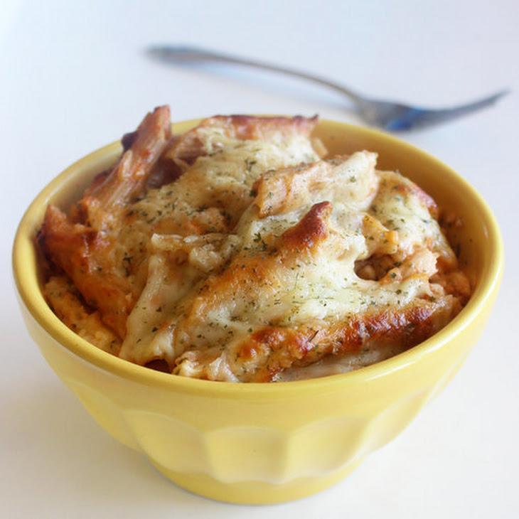 Three-Cheese Chicken and Pasta Bake