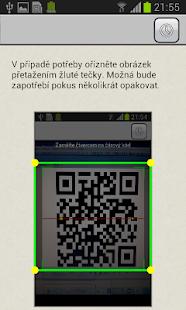 Skener QR kódů - náhled
