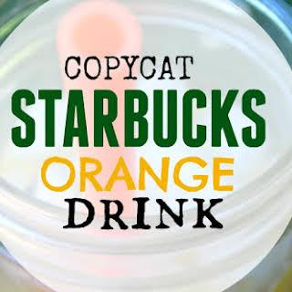 Copycat Starbucks Orange Drink.