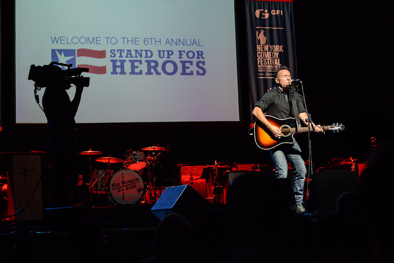 Photo: Bruce Springsteen on stage at the Stand Up For Heroes event on November 8th.The highlight of the intimate performance was a duet with Bruce and his wife--it was incredible. Watch the performance on YouTube:http://goo.gl/2u06m (Stand Up For Heroes | November 8, 2012)
