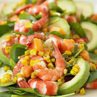 Roasted Corn and Shrimp Salad.
