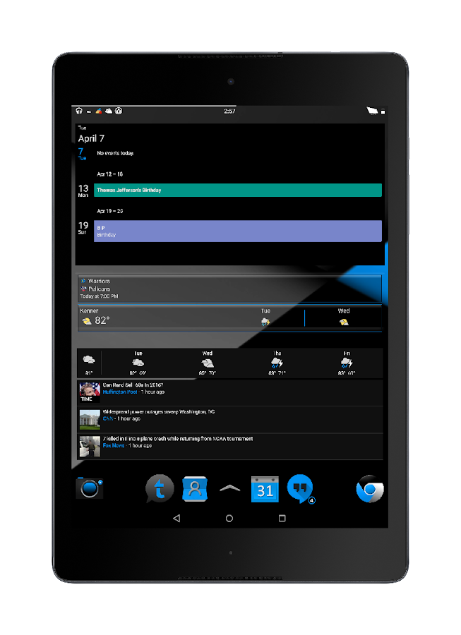Blak Azurro  CM12 Theme - screenshot