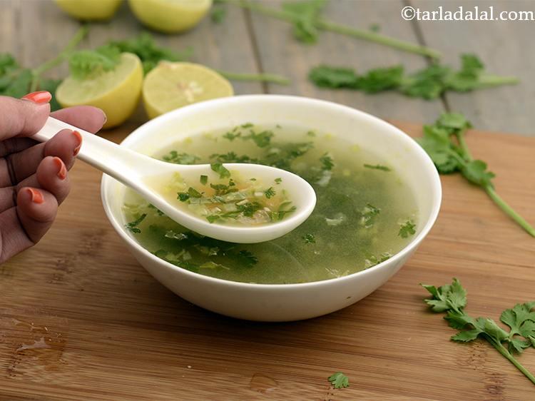 Lemon and coriander soup