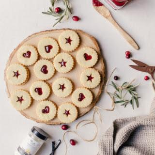 Plum Linzer Cookies.