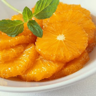 Sliced Oranges with Mint