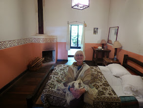 Photo: Our bedroom in the hacienda at Cayambe (2850 metres high)