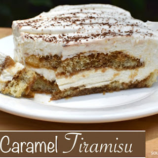 Easy & Decadent Caramel Tiramisu.
