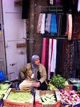 Photo: Woman along Via Dolorosa