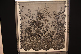 "Photo: A sample of extremely fine lace from the ""Concealed and Revealed"" display of lace at Birmingham's Museum and Art Gallery"