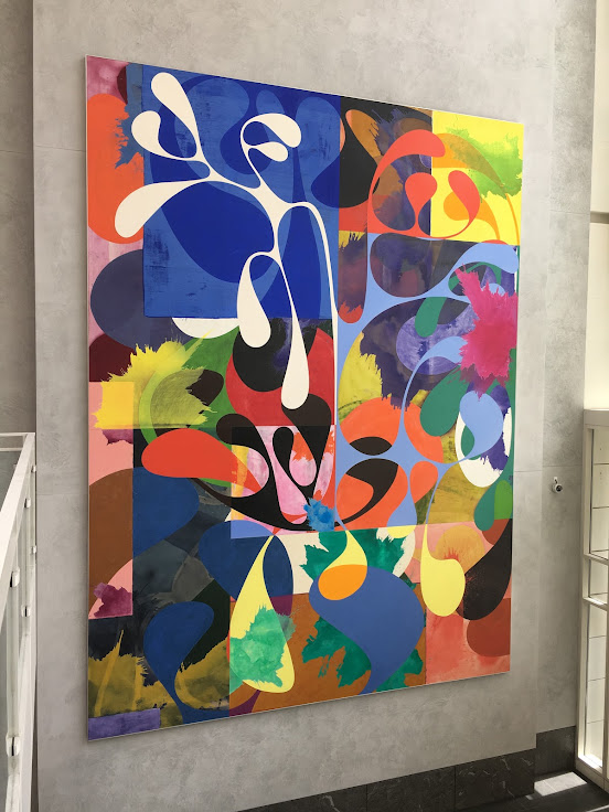 Charles Arnoldi's colorful painting.