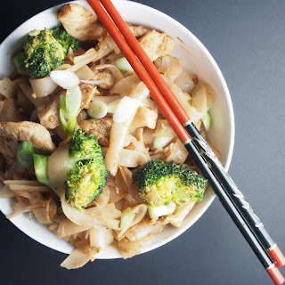 Black Bean Chicken And Broccoli With Noodles