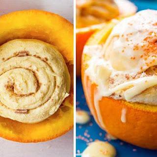 Orange Cinnamon Rolls Baked in Oranges