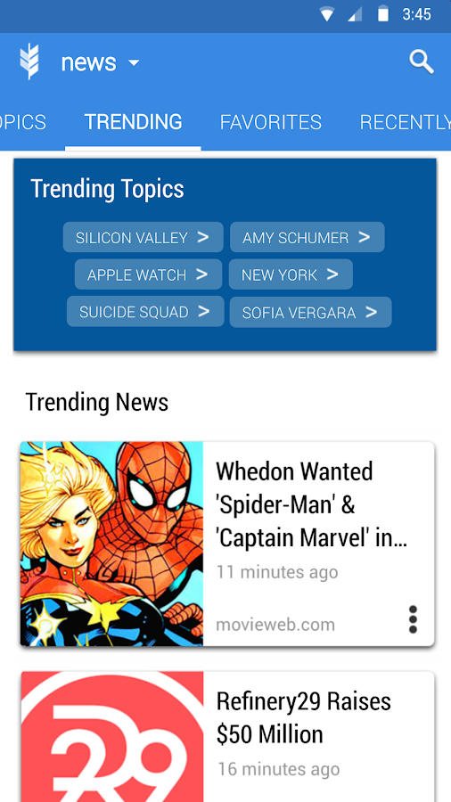 Glean News Reader- screenshot