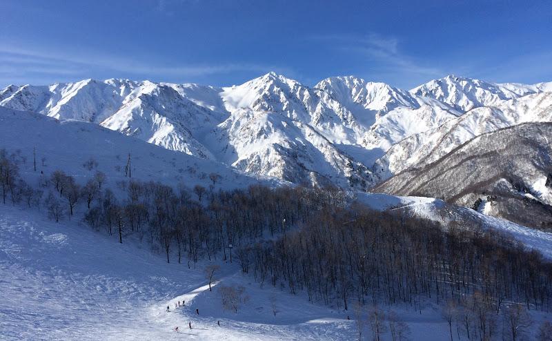 【白馬三山】八方尾根スキー場、スカイラインコースから