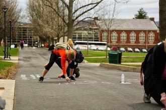 Photo: 4.14.15 Susquehanna University chalking PA