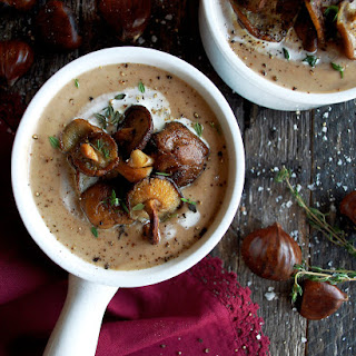 Creamy Roasted Chestnut Soup Recipe
