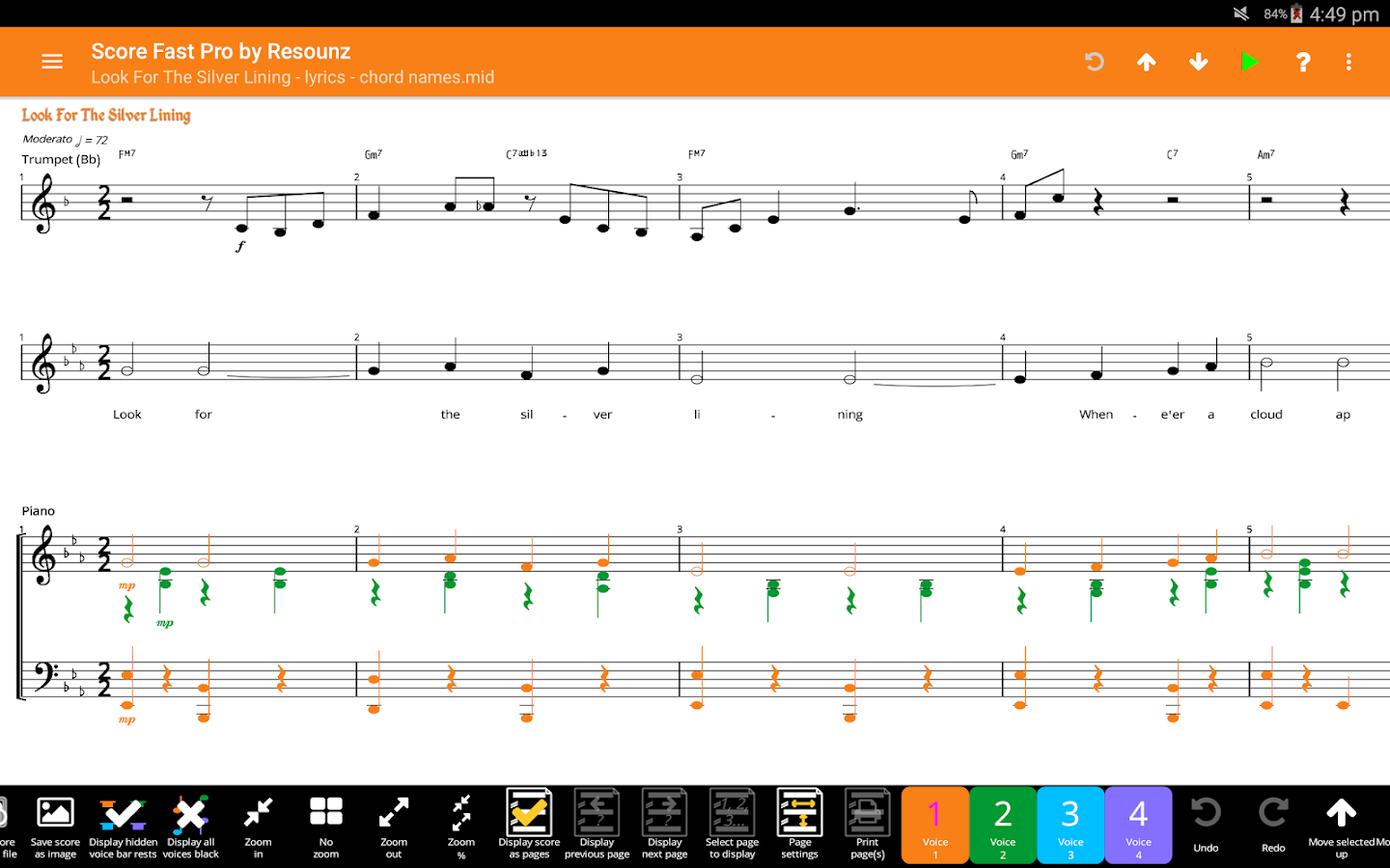 Score Fast Pro: compose, notate, play, print music- screenshot