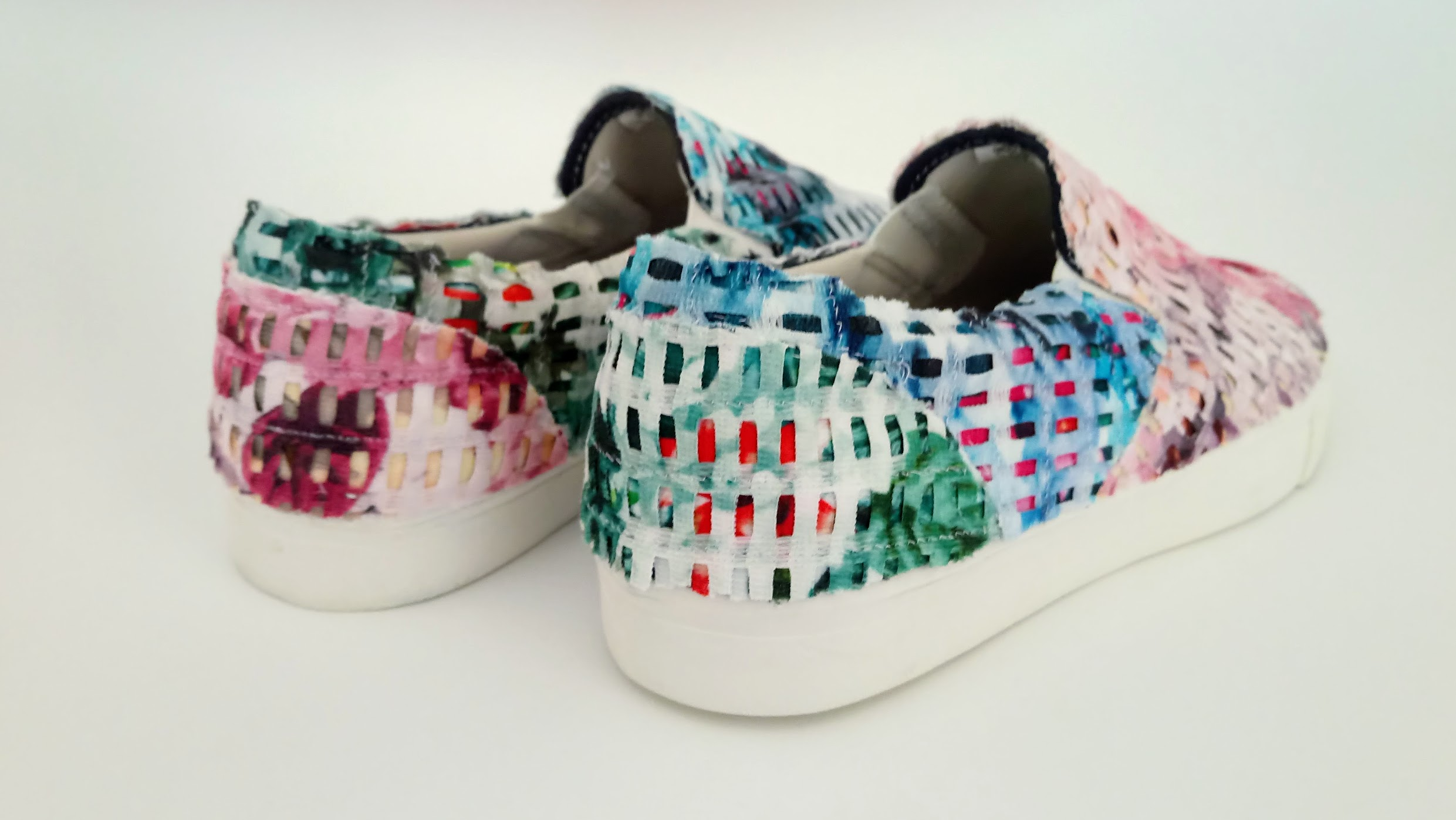 Fabric Collage Shoes - DIY Fashion project   fafafoom.com