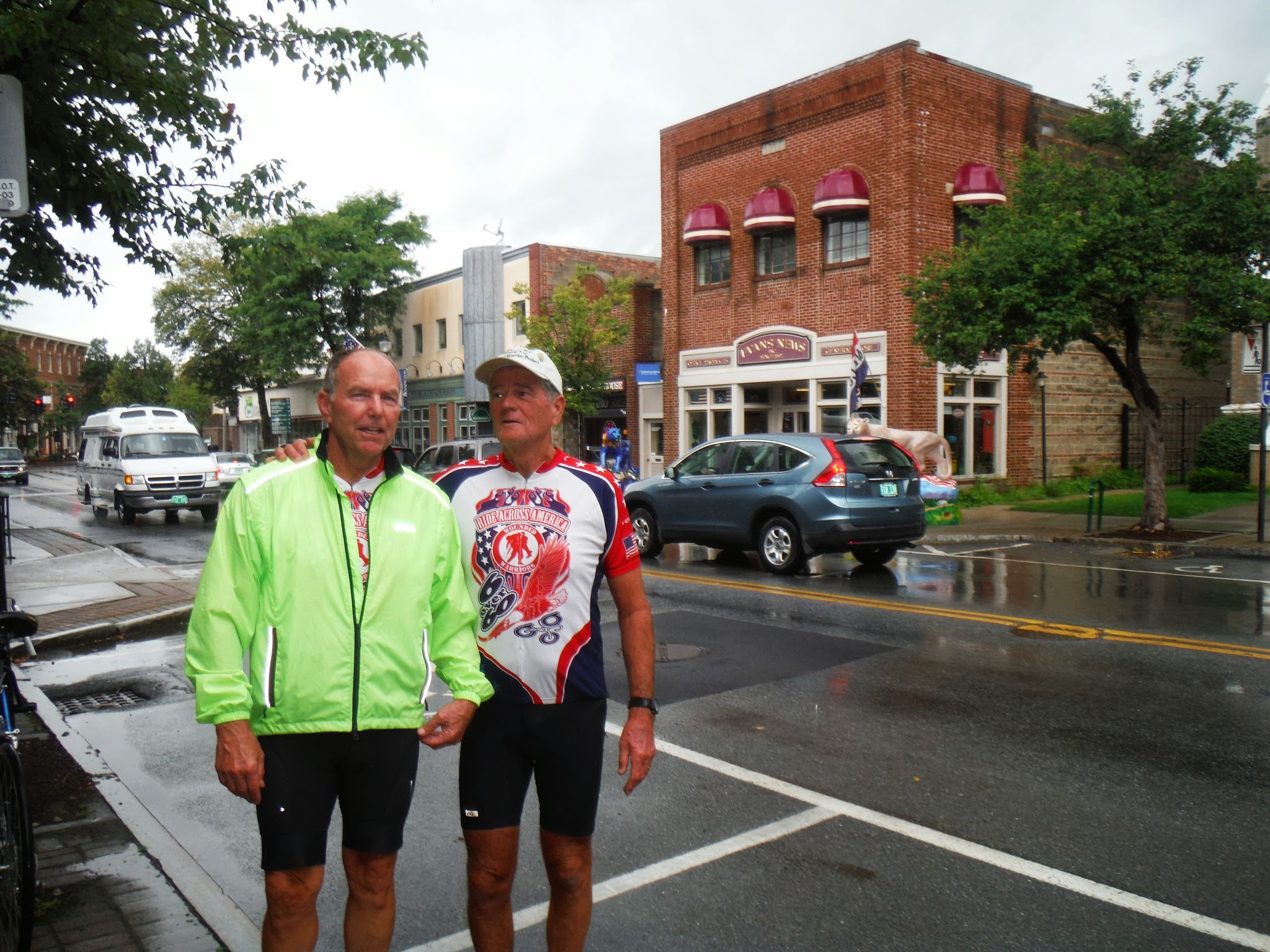 Photo: Day 52 August 9 2013 Latham NY to Bennington VT  We had hot chocolate and cookies at the Crazy Russian Girls Bakery.