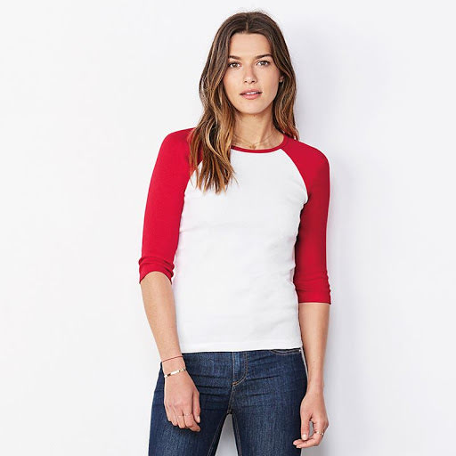 Bella & Canvas Ladies Sleeve Contrast T-shirt