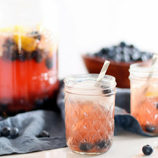 Sparkling Blueberry Hibiscus Iced Tea.