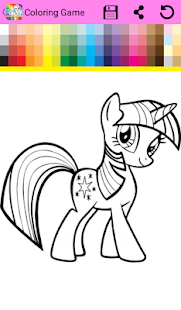 Coloring Book Little Pony - náhled