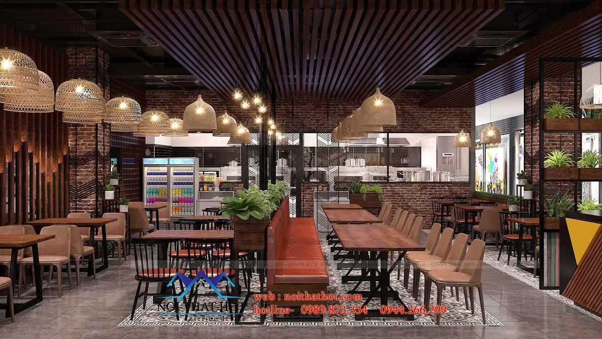 thiết kế nhà hàng ấn tượng