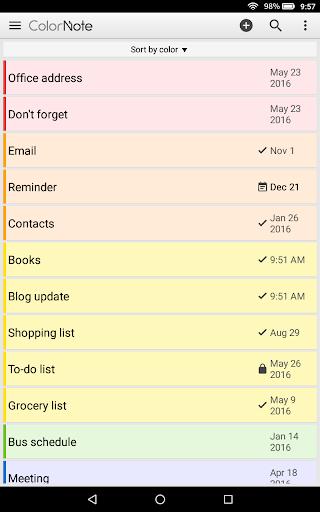 ColorNote Notepad Notes 4.0.7 screenshots 9