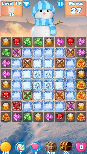 Snowman Swap - match 3 games New match 3 no wifi 1.0.7 Mod screenshots 4